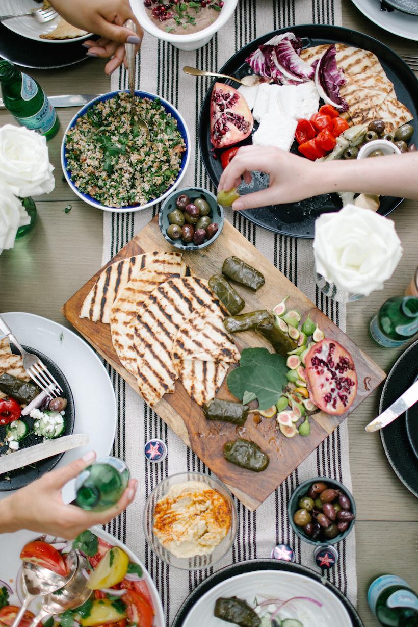 A Mediterranean Summer Mezze | Camille Styles | Happy Labor Day!