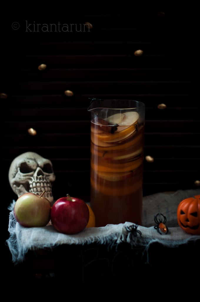 Apple Bourbon & Pumpkin Sangria | Kiran Tarun | 8 Eerie Halloween Cocktails