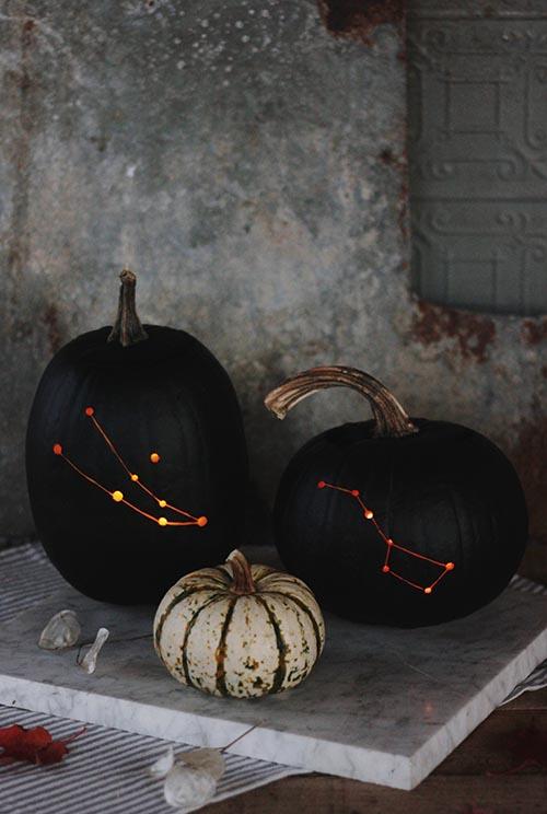 DIY Constellation Pumpkin by The MerryThought DIY | Design Sponge | DIY Pumpkin Decorations