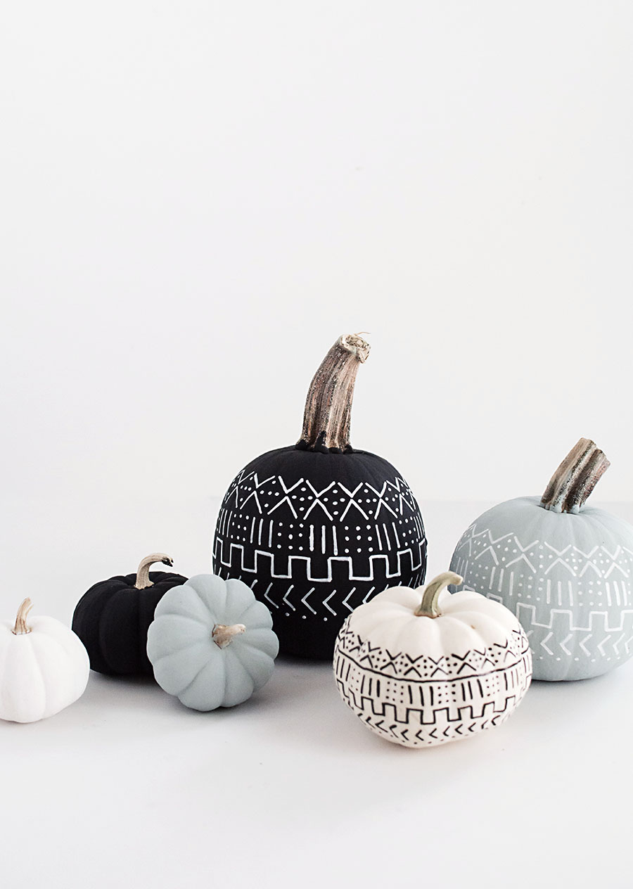 DIY Mud Cloth Pumpkins | Homey Oh My | DIY Pumpkin Decorations