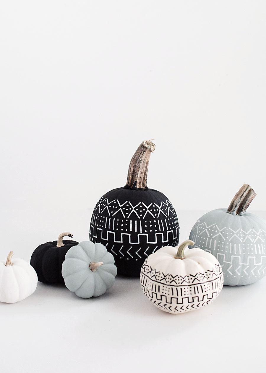 DIY Mud Cloth Pumpkins | Homey Oh My | DIY Pumpkin Decorations