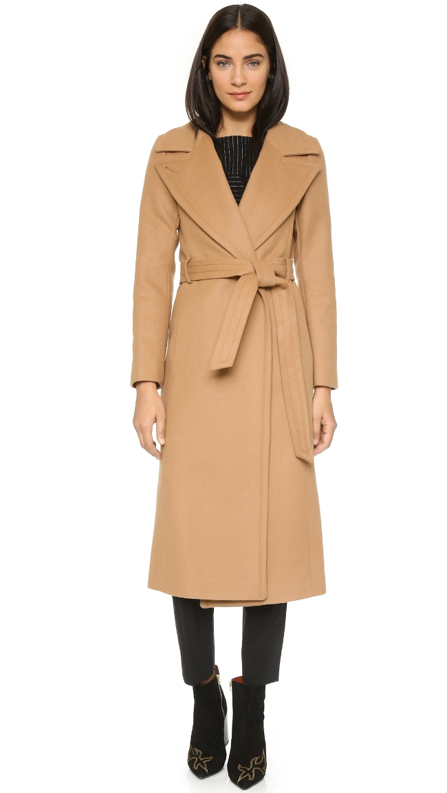Mackage Babie Wrap Coat | Camel Coats