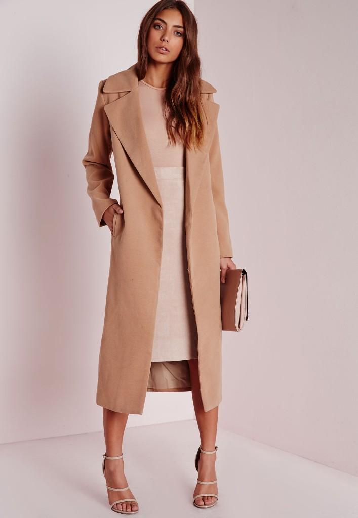 Missguided Oversized Camel Coat | Camel Coats