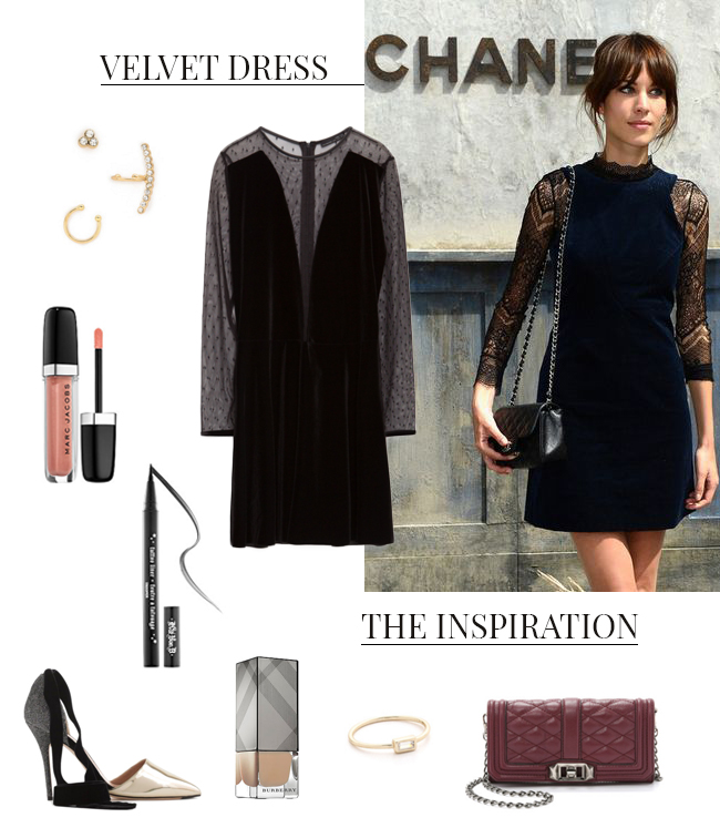 How She'd Wear It with Style and Cheek - Velvet Dresses