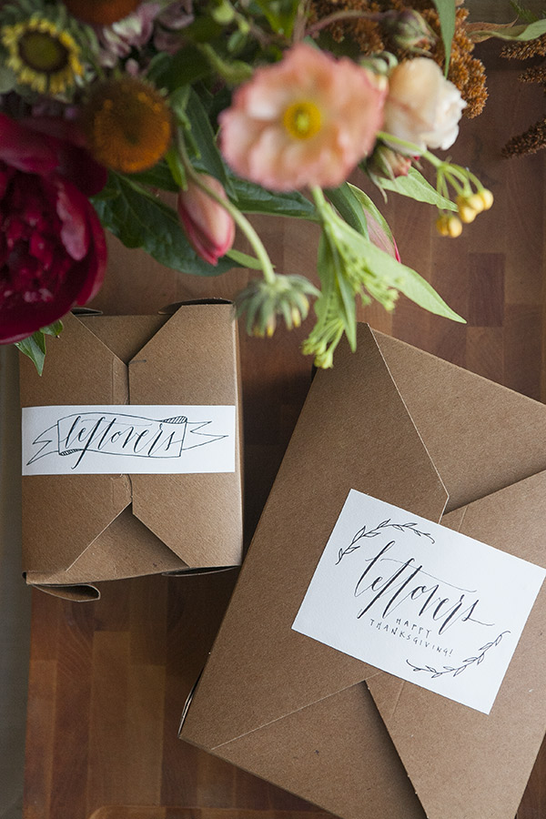 Thanksgiving Leftovers Labels | Oh Happy Day | Friendsgiving Inspiration