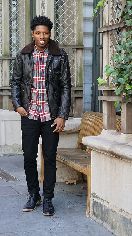 This Fall Look Maybe In Your Closet Already: Leather + Flannel + Black Jeans | Style Society Guy | Fall Menswear Style Inspiration
