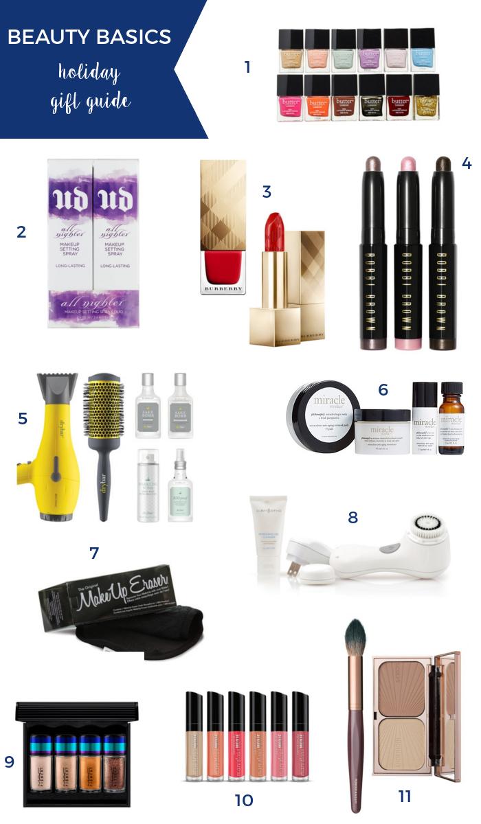 beauty basics holiday gift guide