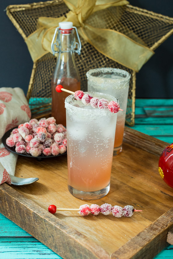 Cranberry Moscow Mule | The Girl in the Little Red Kitchen | Winter Cocktails