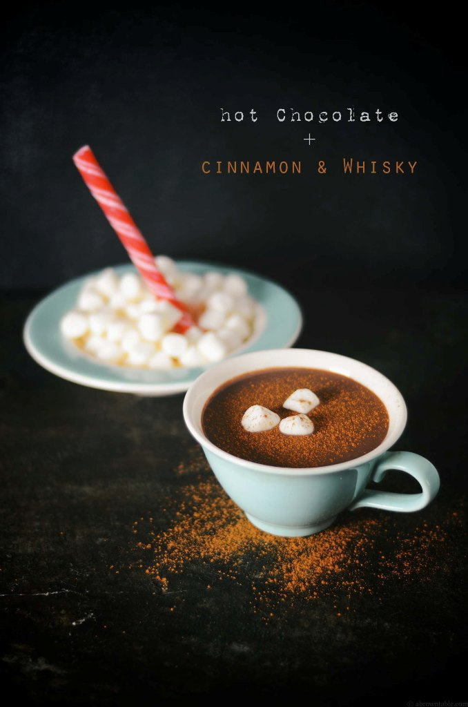 Hot Chocolate with Cinnamon and Whiskey | A Brown Table | Winter Cocktails