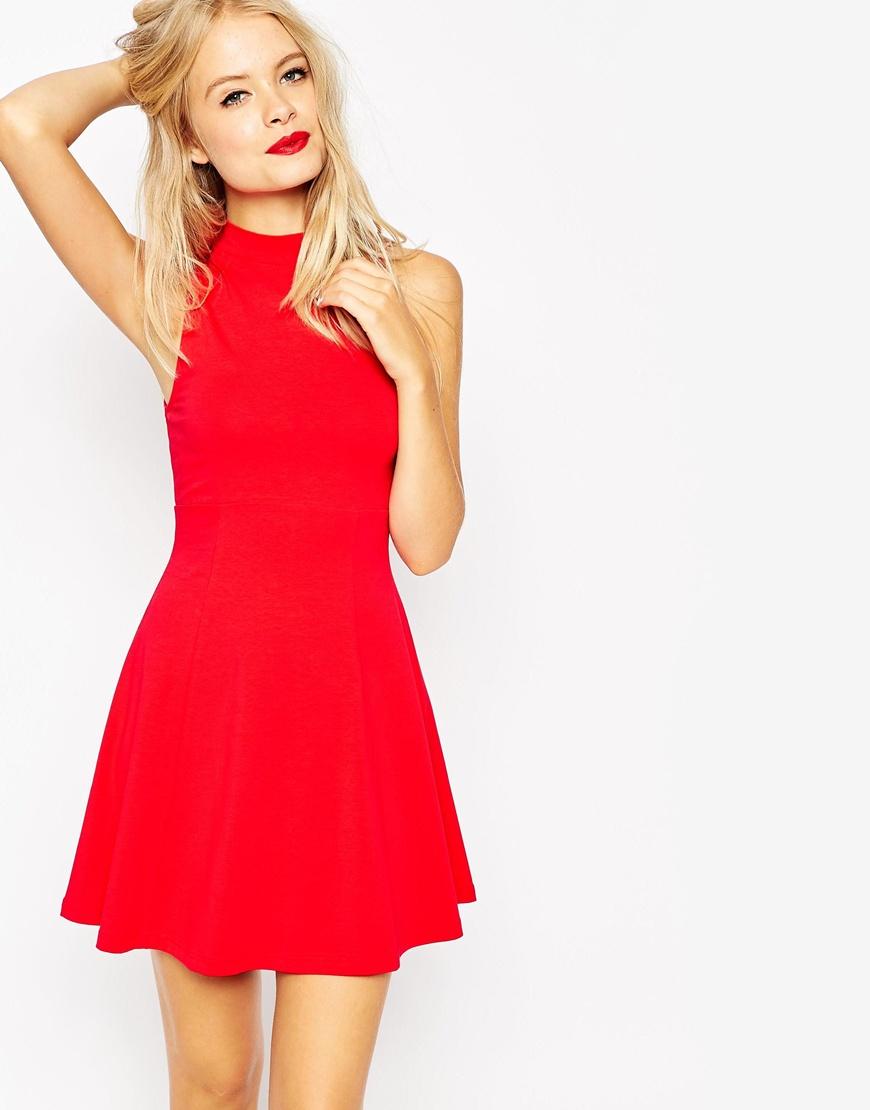 Short and Flirty Valentine's Day Dresses - ASOS High Neck Empire Dress