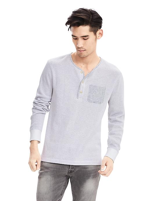 Banana Republic Waffle-Knit Chest-Pocket Henley | Mens Henleys Under 50