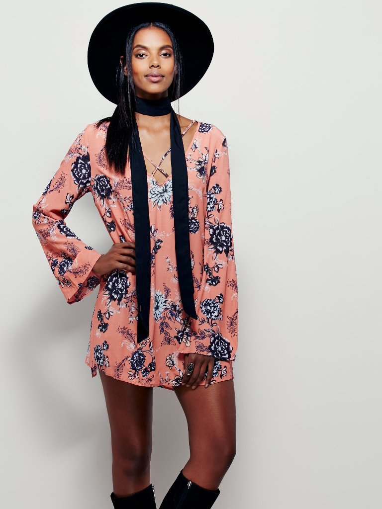 Short and Flirty Valentine's Day Dresses - Free People Heart Beat Printed Tunic