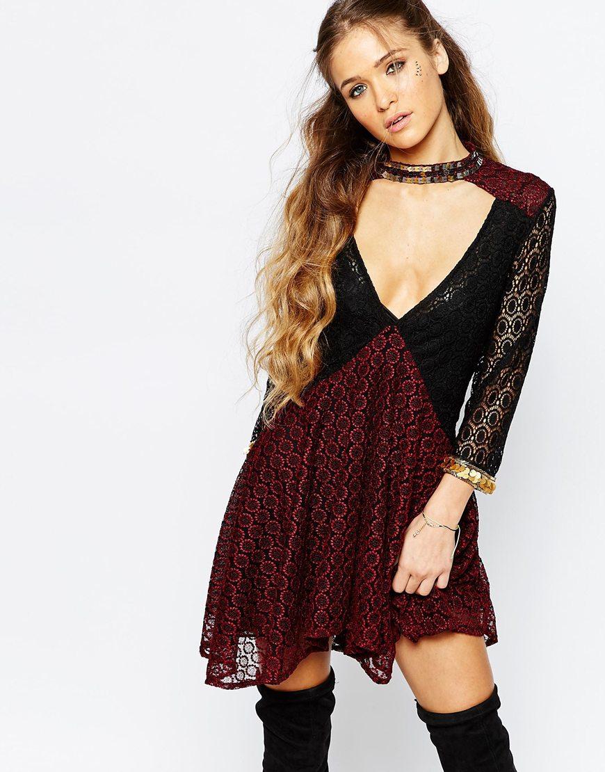 Short and Flirty Valentine's Day Dresses - Native Rose Kosmic Blues Smock Dress