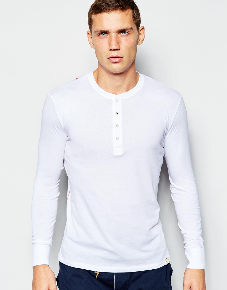 Paul Smith Henley Long Sleeve Top In Slim Fit | Mens Henleys Under 50