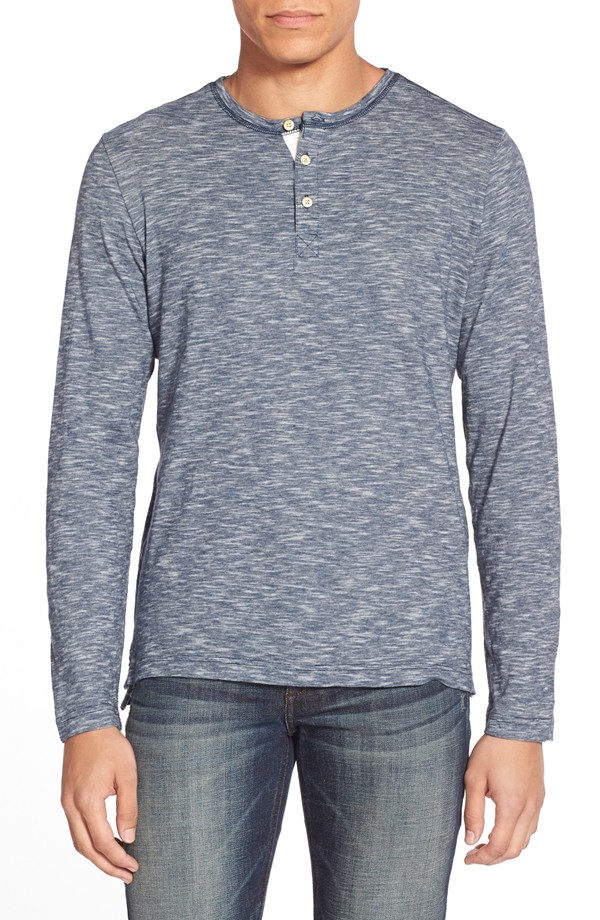 Surfside Supply Slub Space Dye Long Sleeve Henley | Mens Henleys Under 50