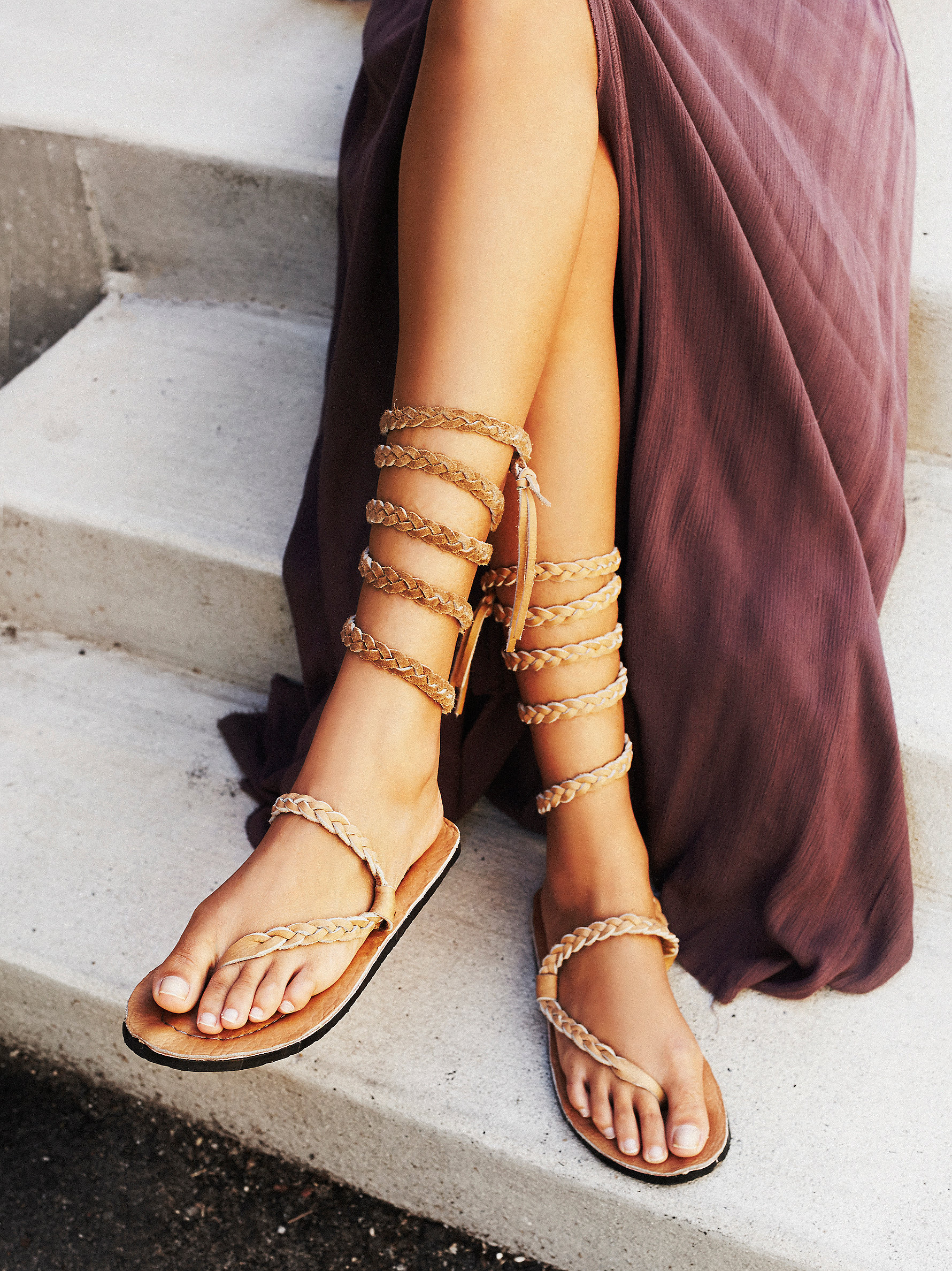 Free People's Sexy Strappy Sandals - Heathermarie Heaton Braided Sandal at Free People Clothing Boutique