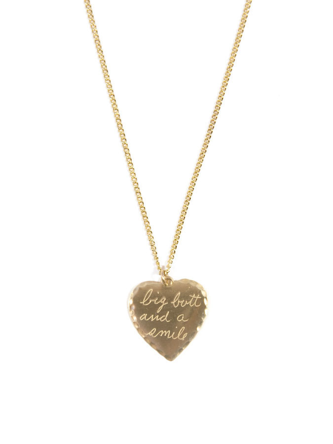 In God We Trust Sweet Nothings Collection - In God We Trust Sweet Nothing Necklace Brass / Big Butt And A Smile