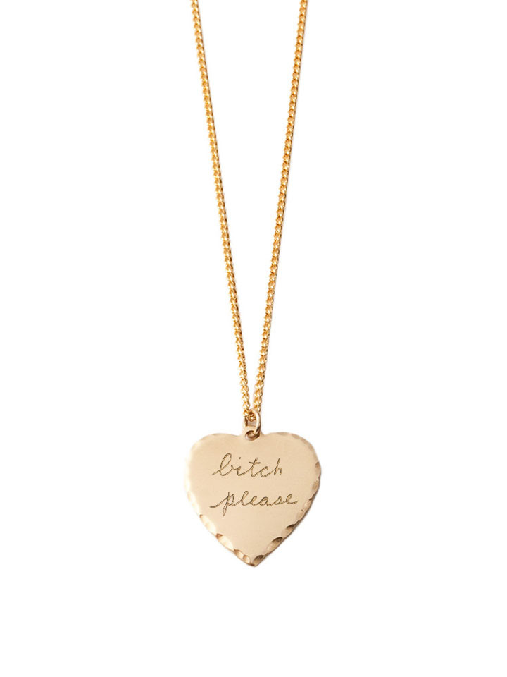 In God We Trust Sweet Nothings Collection - In God We Trust Sweet Nothing Necklace Brass / Bitch Please
