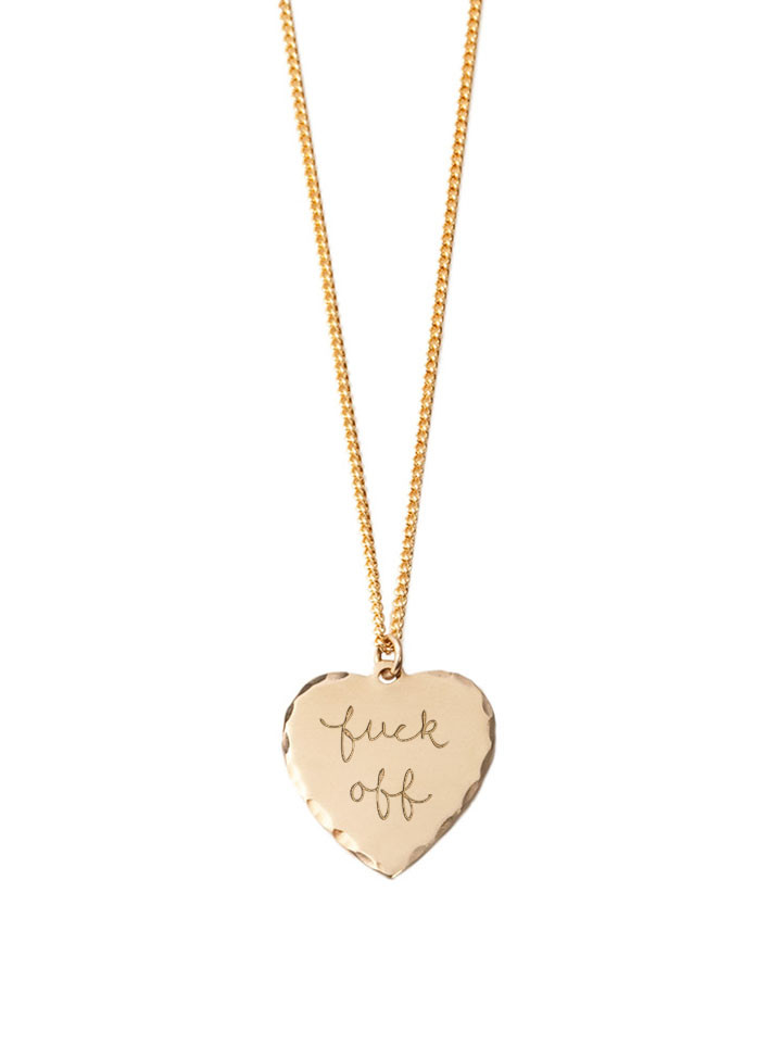 In God We Trust Sweet Nothings Collection - In God We Trust Sweet Nothing Necklace Brass / Fuck Off