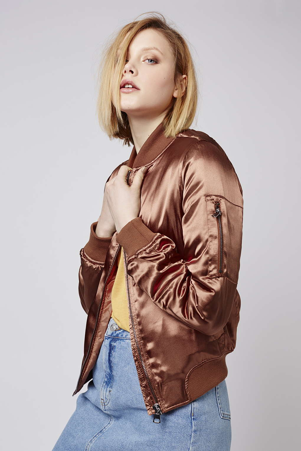 Bomber Jackets for Spring - Topshop Shiny Rust MA1 Bomber