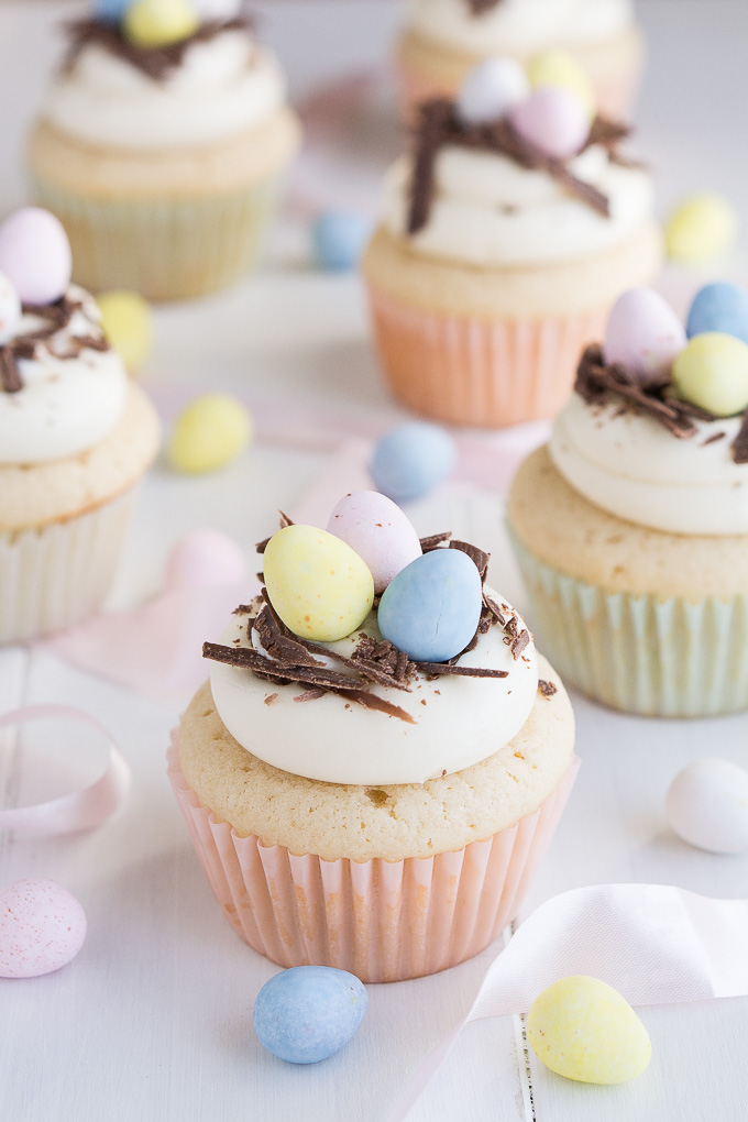 Pinterest Picks - Easter Ideas - White Chocolate Easter Egg Cupcakes | Garnish and Glaze