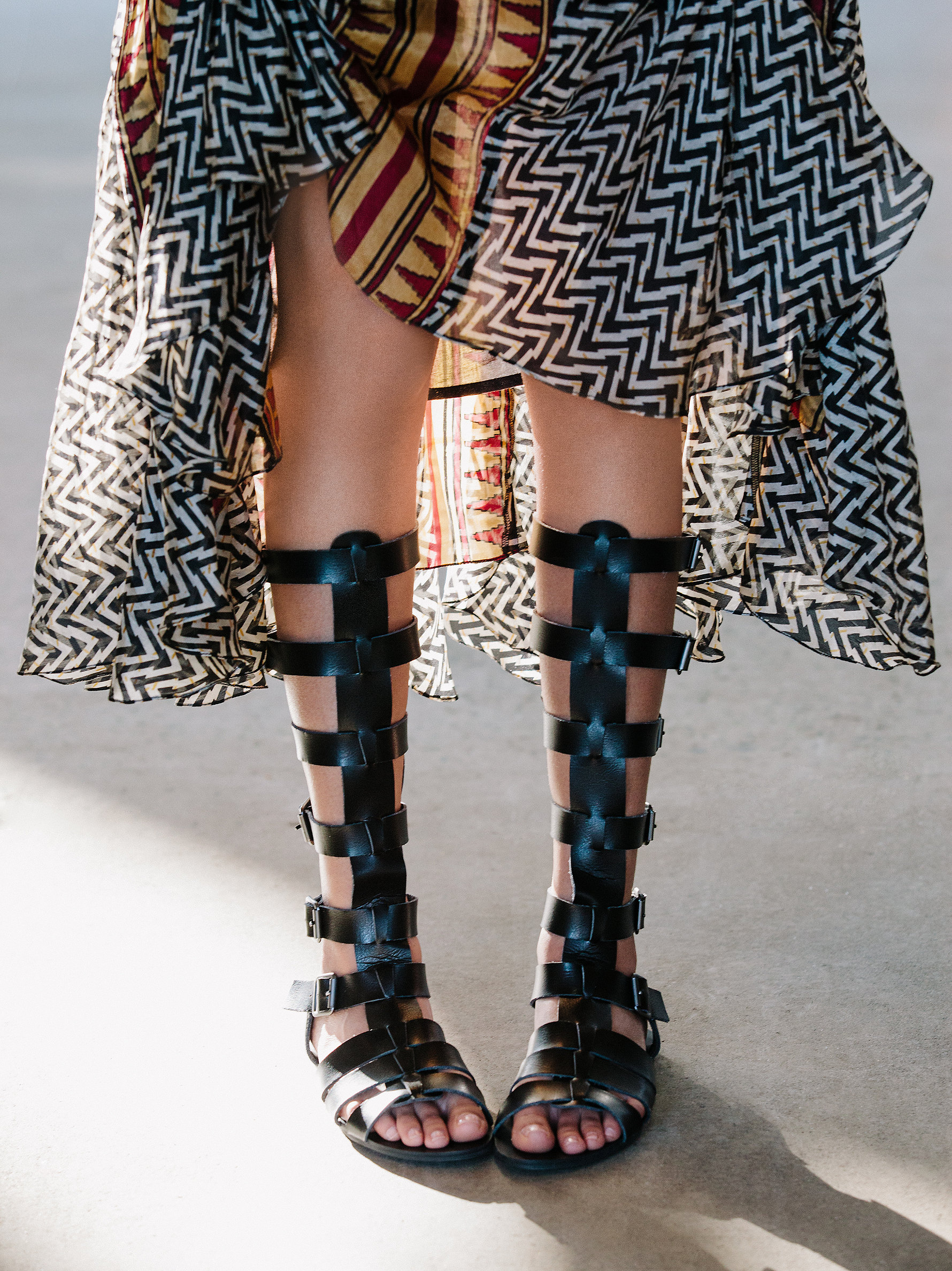 Free People's Sexy Strappy Sandals - faryl robin + Free People Republik Vegan Gladiator Sandals at Free People Clothing Boutique