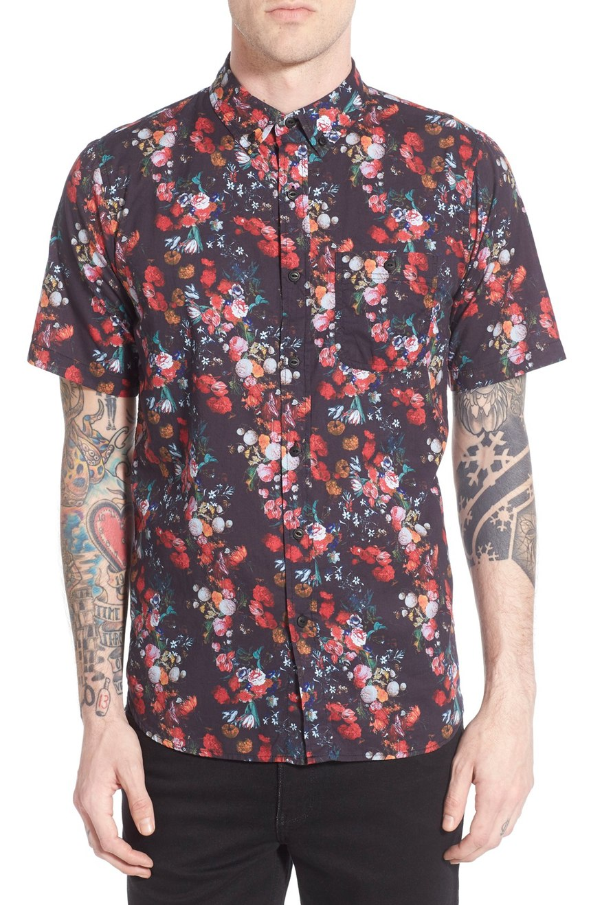 Floral Prints for Guys - Ezekiel 'Slayter' Trim Fit Floral Print Woven Shirt