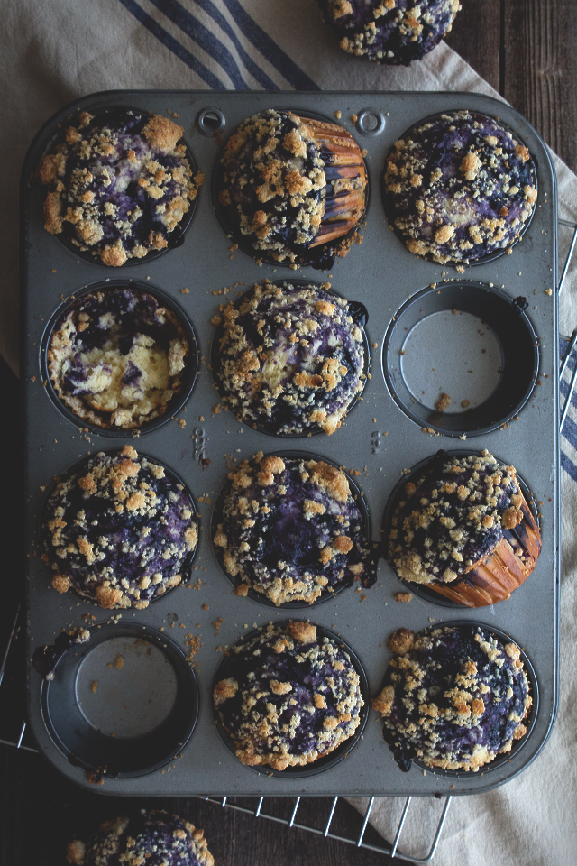 Brunch Recipes for Mother's Day - Blueberry Swirl Muffins | Honestly Yum
