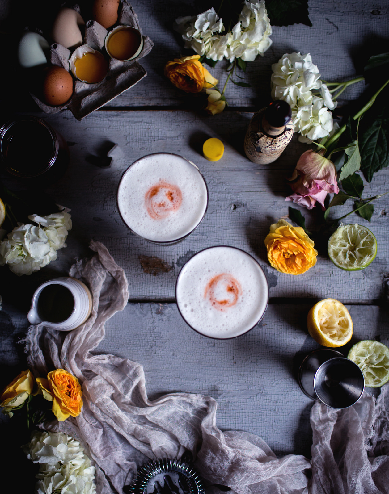 8 Refreshing Spring Cocktails - Honey-Rhubarb Pisco Sour | Reclaiming Provencial