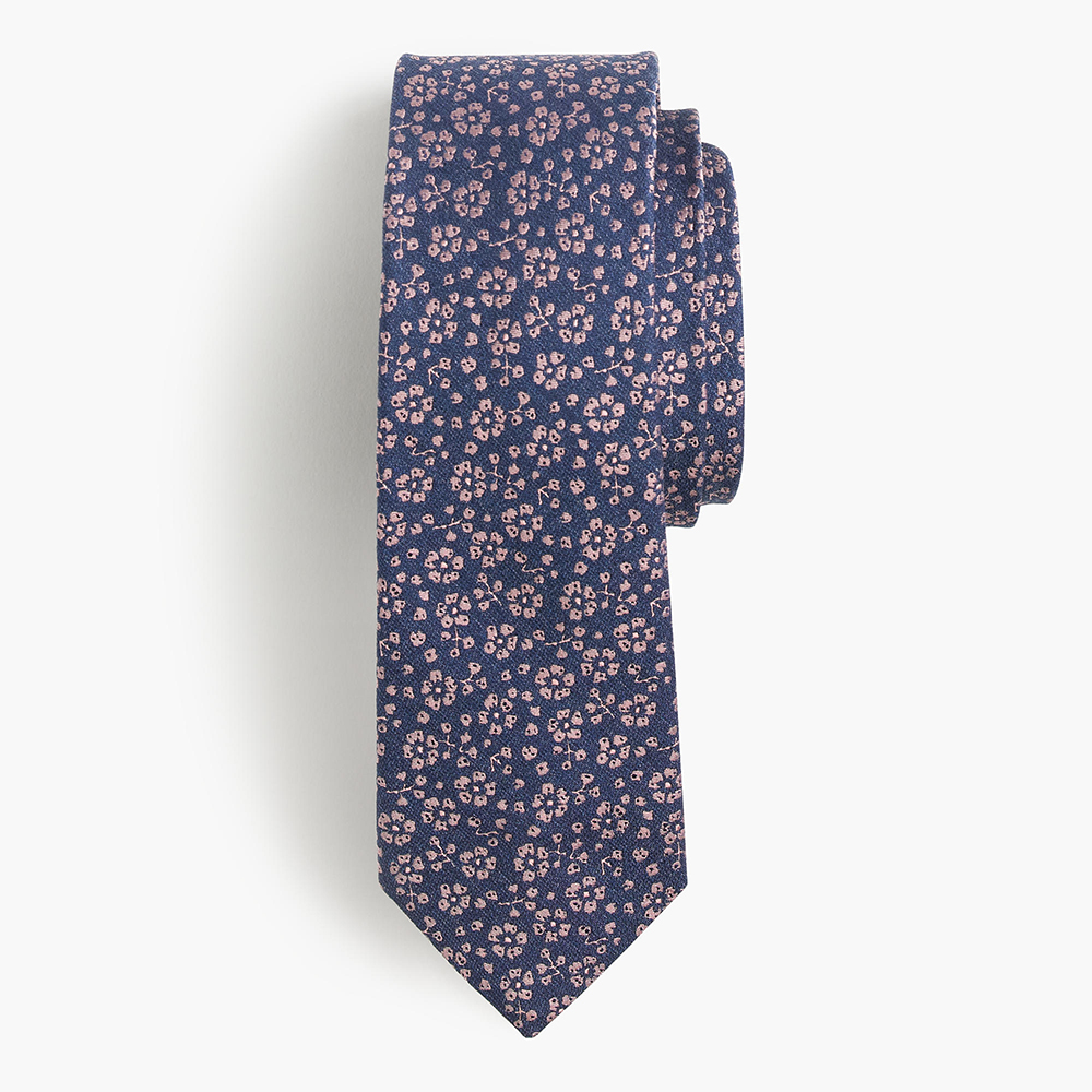 Floral Prints for Guys - J.Crew Italian Silk Tie in Floral Jacquard