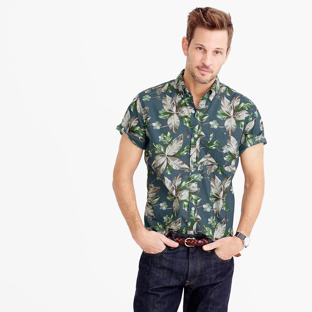 Floral Prints for Guys - J.Crew Short-Sleeve Shirt in Spring Vine Floral