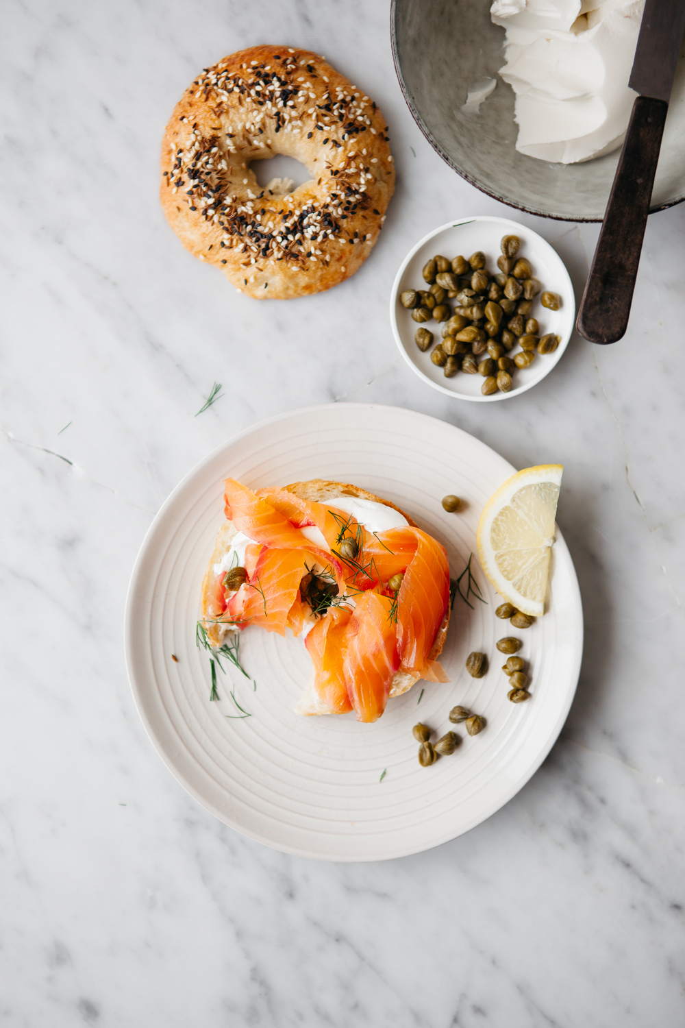 Brunch Recipes for Mother's Day - Sprouted Flour Bagel + Beet & Honey Cured Salmon | Renée Kemps