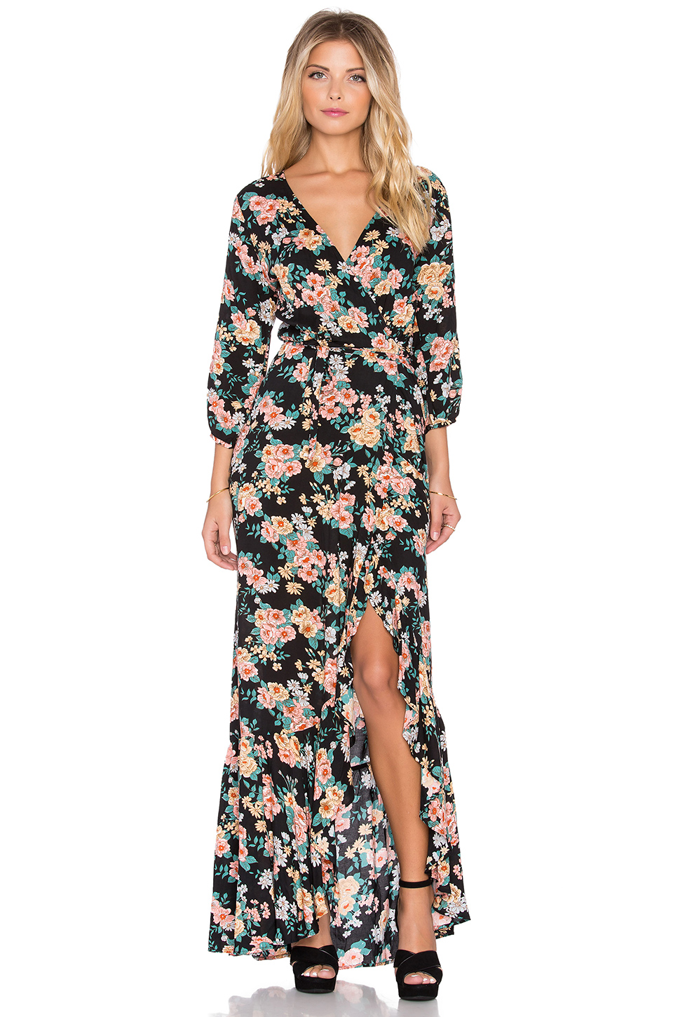 Pretty Wrap Dresses for Spring Flings - Revolve Auguste Wandering Willow Wrap Maxi Dress