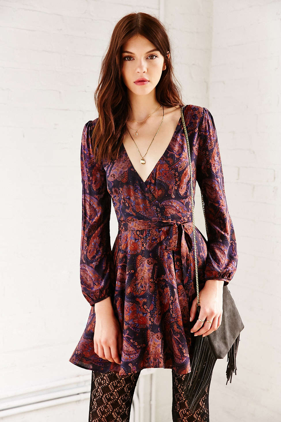Pretty Wrap Dresses for Spring Flings - Urban Outfitters Ecote Ruby Mini Wrap Dress