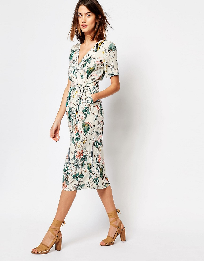 Pretty Wrap Dresses for Spring Flings - Warehouse Bird Print Dress