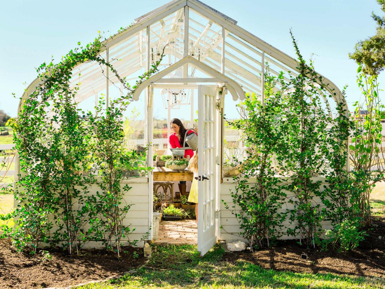 Greenhouse Inspiration - Joanna Gaines Working in Her Greenhouse | HGTV