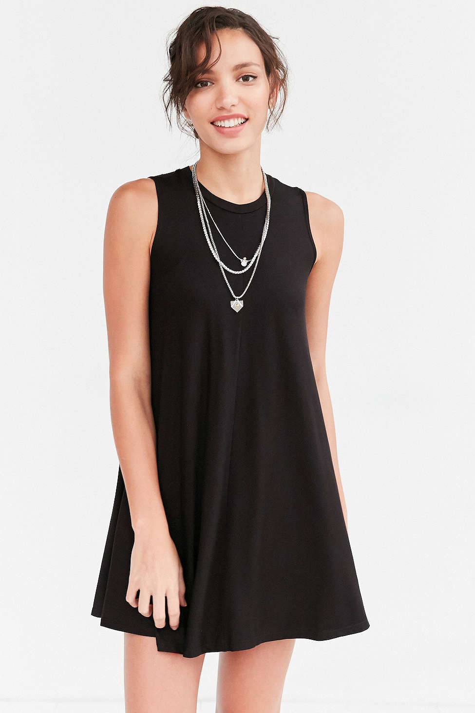 Silence + Noise Swingy Tank Dress - Casual Little Black Dresses