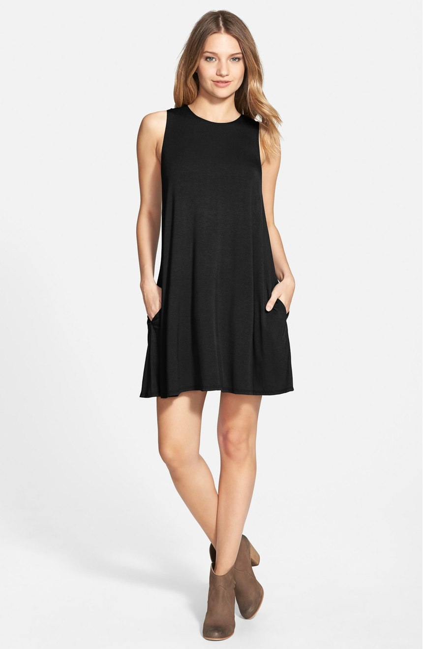Socialite High Neck Dress - Casual Little Black Dresses