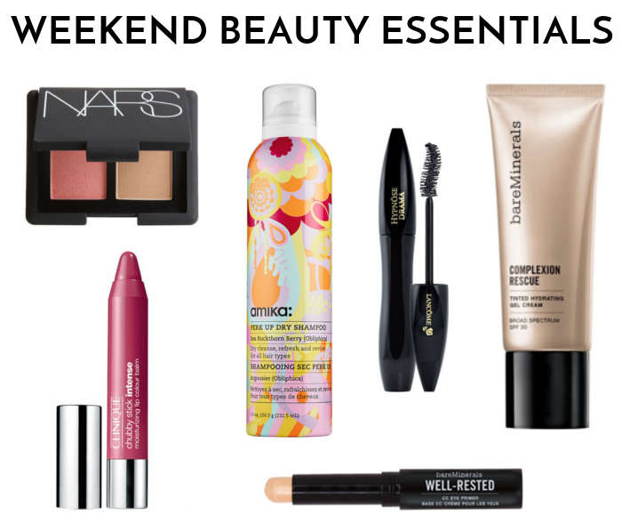 weekend beauty essentials