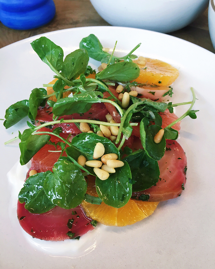 Café No Sé - grapefruit and beet salad - Five Restaurants to Try in Austin