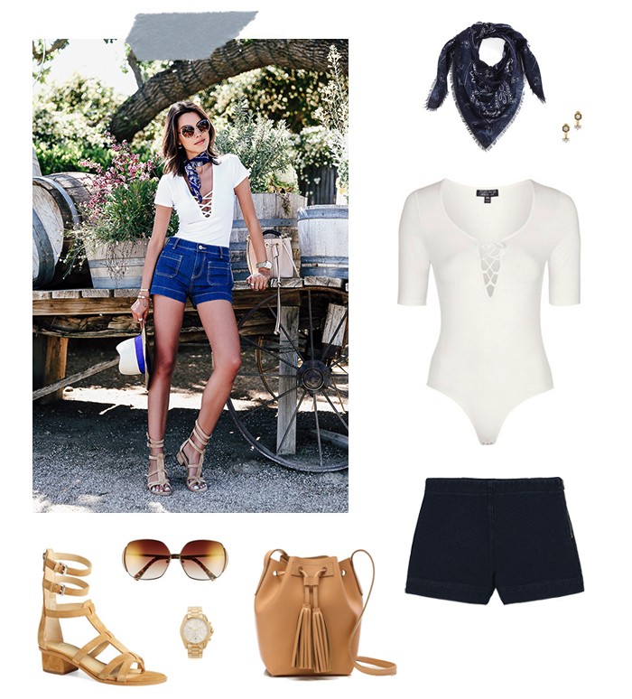 How She'd Wear It with Style and Cheek - Bodysuits and Shorts
