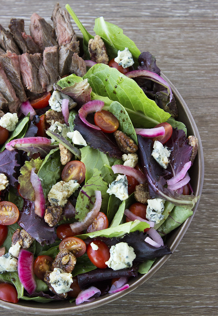 Steak Salad with Blue Cheese and Pickled Red Onion 2