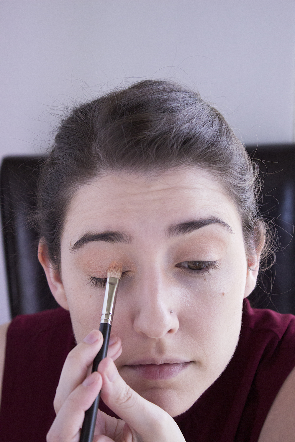 Sultry Summer Makeup Look with Bartell Drugs Step 1 Pacifica Eye Shadow Coral Sand