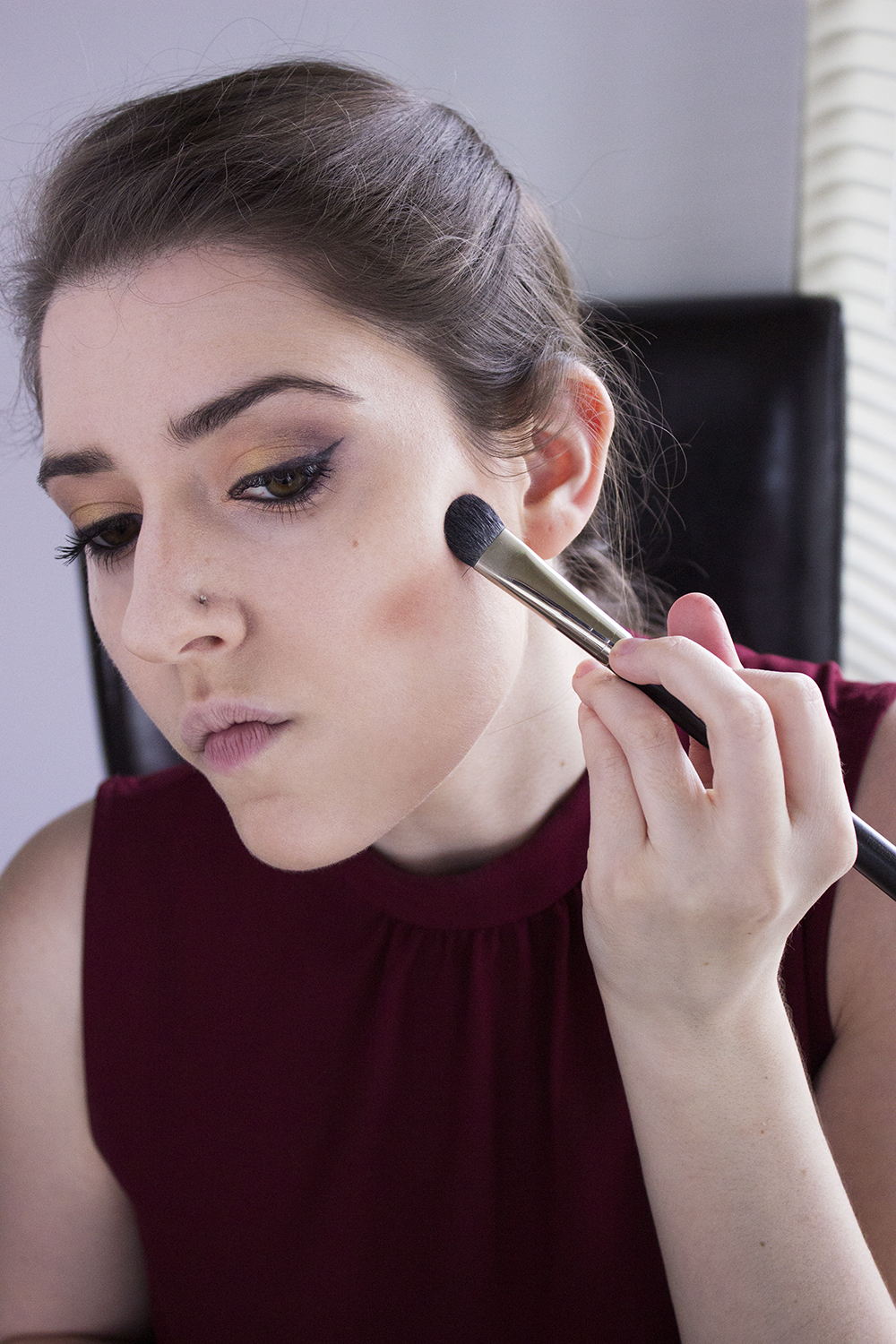 Sultry Summer Makeup Look with Bartell Drugs Step 6 Maybelline Master Contour 1 Contour