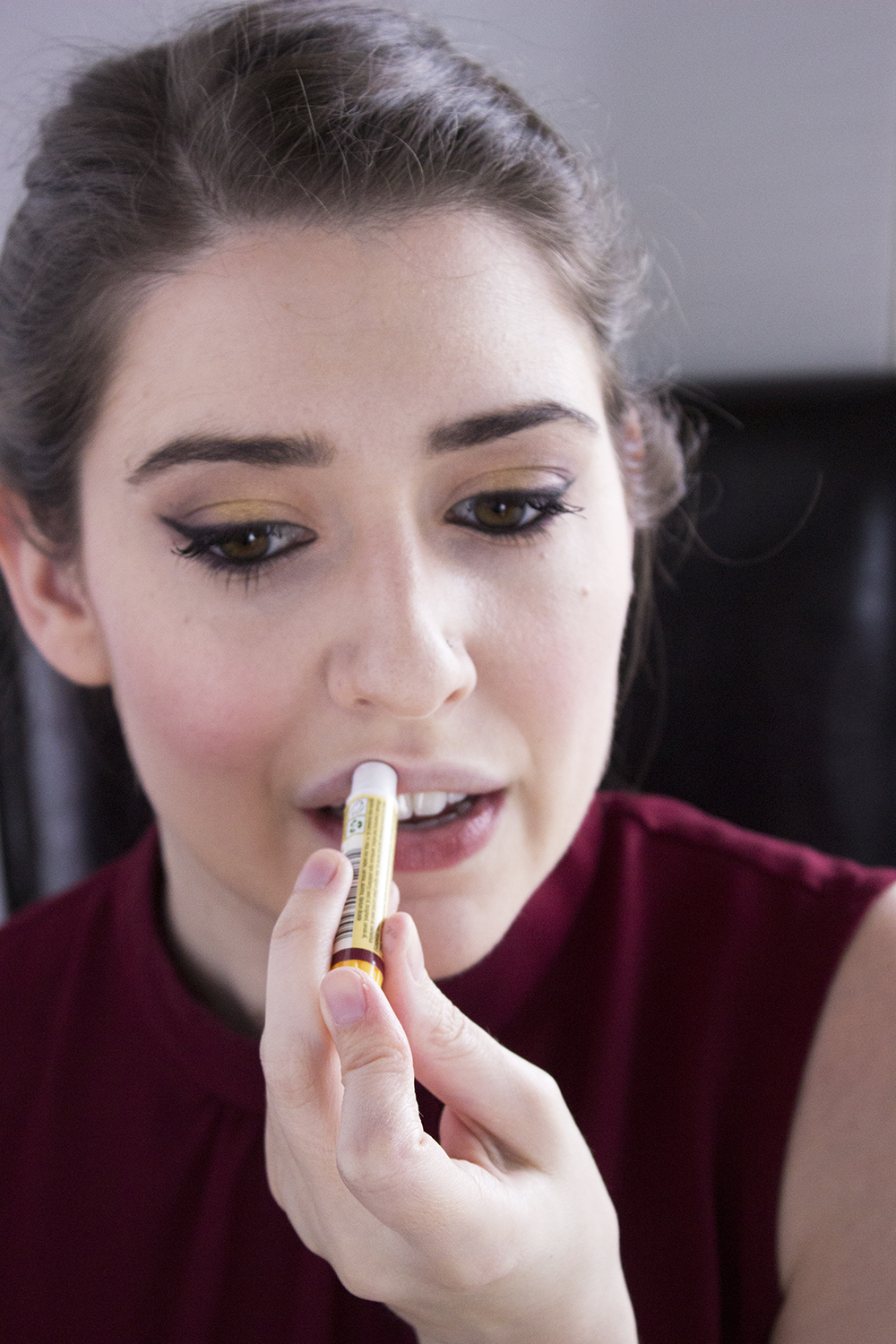 Sultry Summer Makeup Look with Bartell Drugs Step 9 Burt's Bees Lip Shimmer in Fig