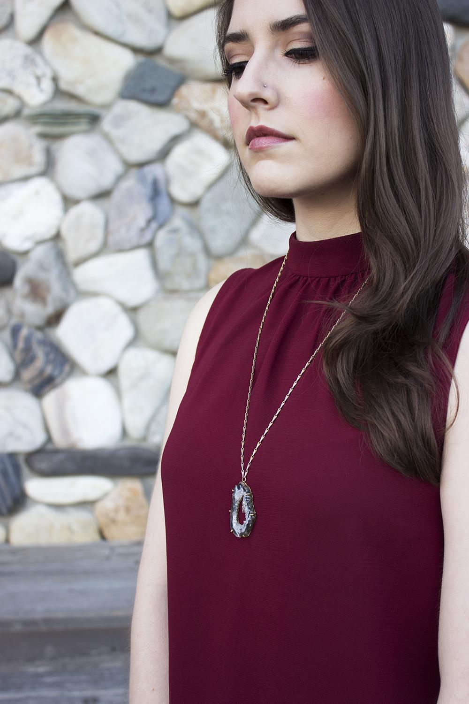 Uncommon Goods Geode Necklace