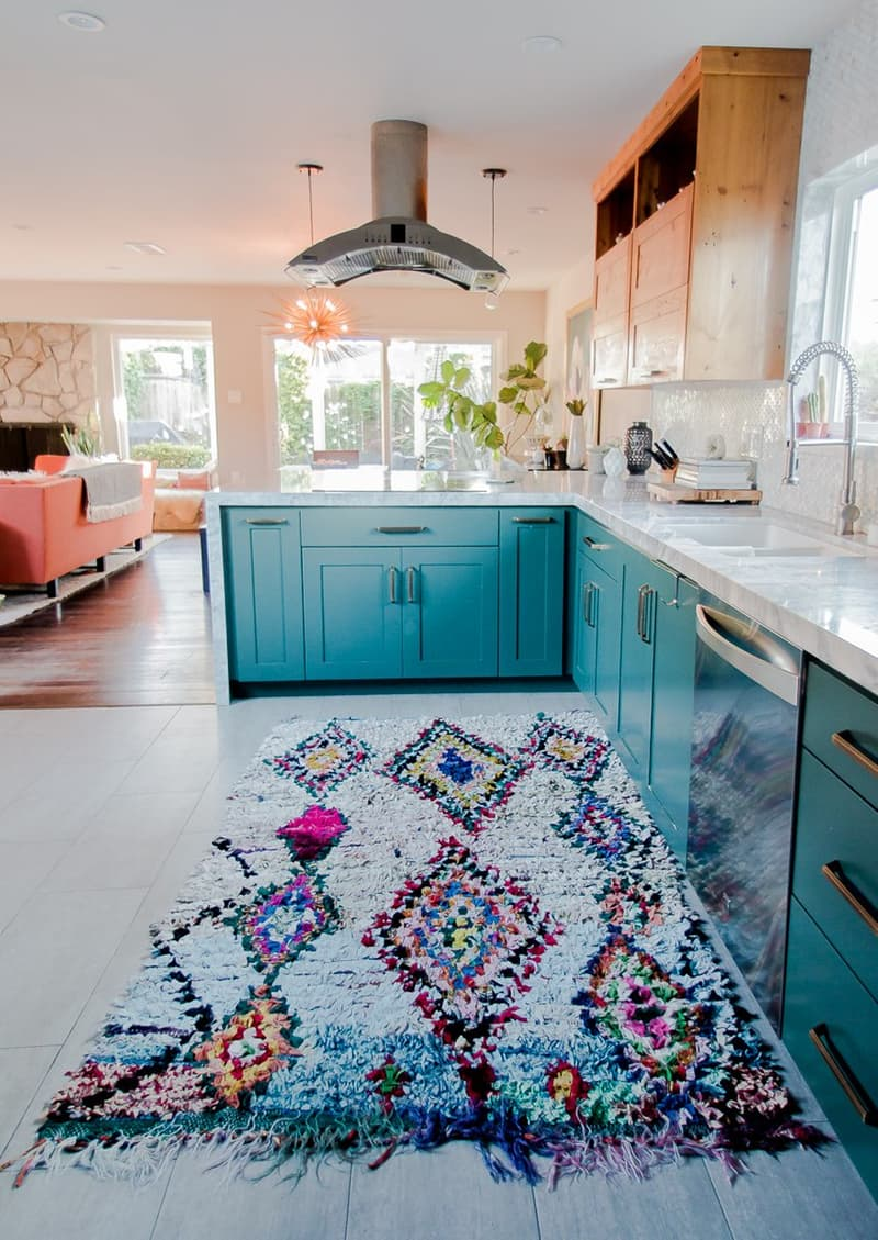 Erin & Danny's Serene California Home | Apartment Therapy - Pinterest Picks - Bohemian Rugs