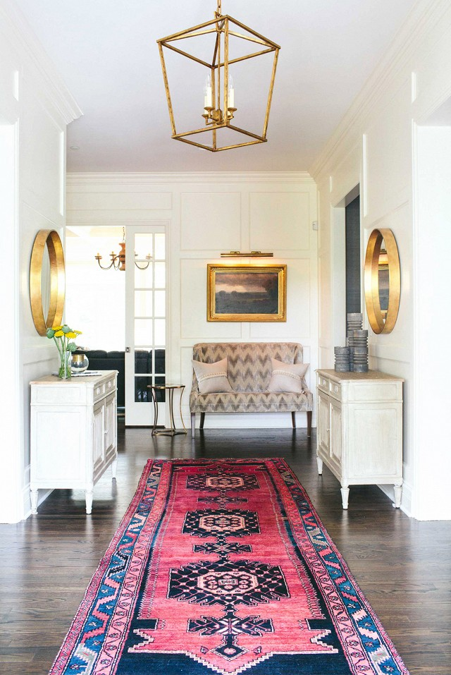 Inside a Fresh, Feminine Home | My Domaine - Pinterest Picks - Bohemian Rugs