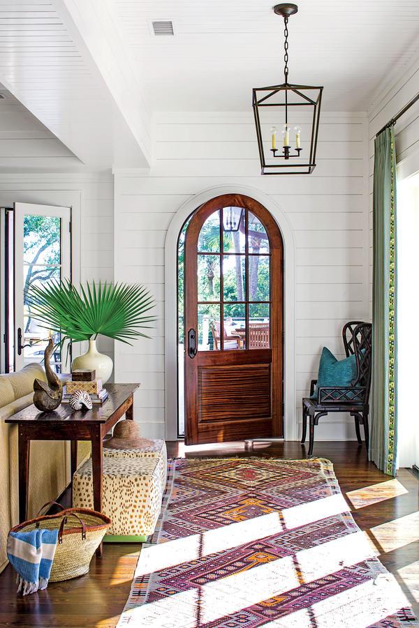 Tour This Kiawah Island Lowcountry Home | Southern Living - Pinterest Picks - Bohemian Rugs