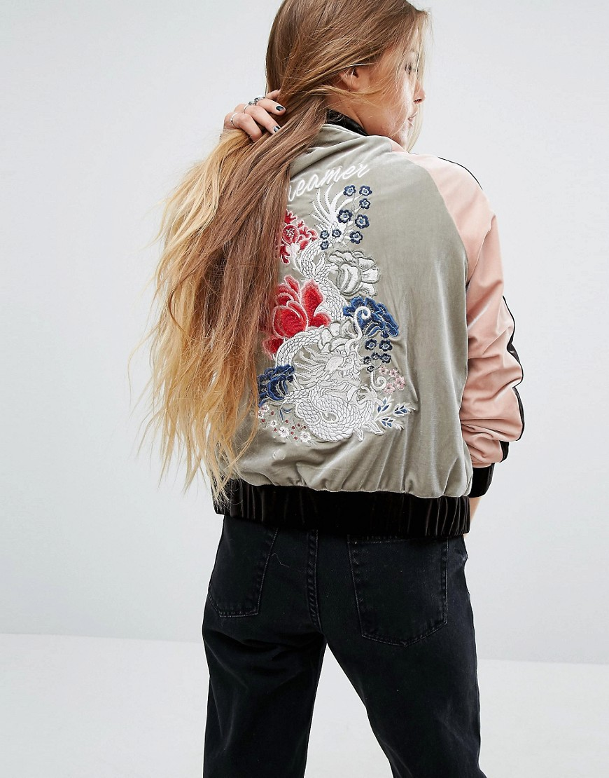 ASOS Glamorous Embroidered Bomber Jacket In Velvet - 8 Perfect Velvet Pieces for Fall